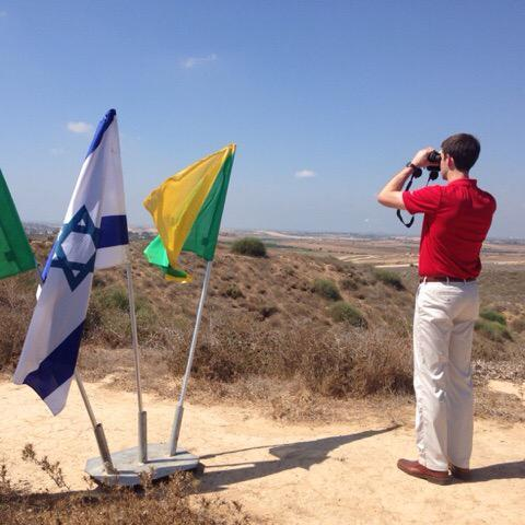 Tom Cotton at Israeli-Gaza border