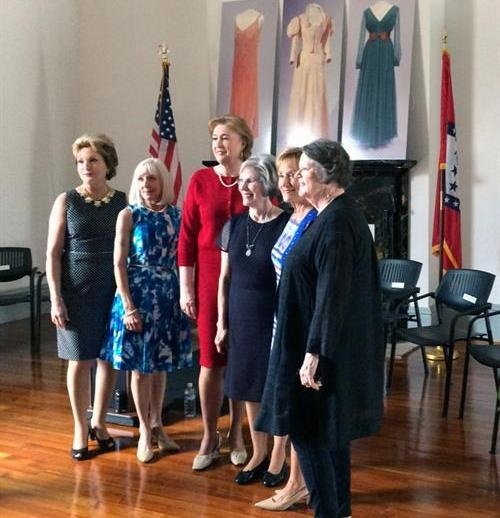 First Ladies (left to right) Susan Hutchinson, Ginger Beebe, Janet Huckabee, Betty Tucker, Gay White, and Barbara Pryor.