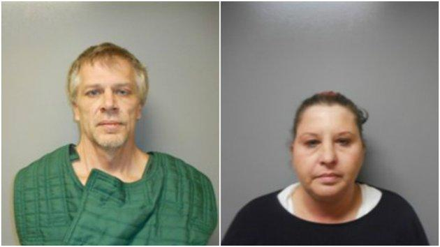 Brad Bartelt and his girlfriend Connie Hampton, who has been arrested on a weapons charge.