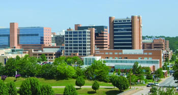 The main campus of the University of Arkansas For Medical Sciences in Little Rock.