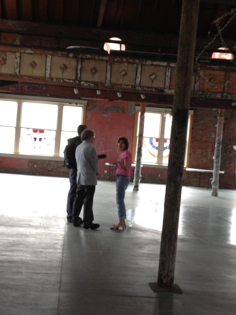 Kerry McCoy talks to the Arts & Letters team inside the Dreamland Ballroom on Little Rock's west 9th street.