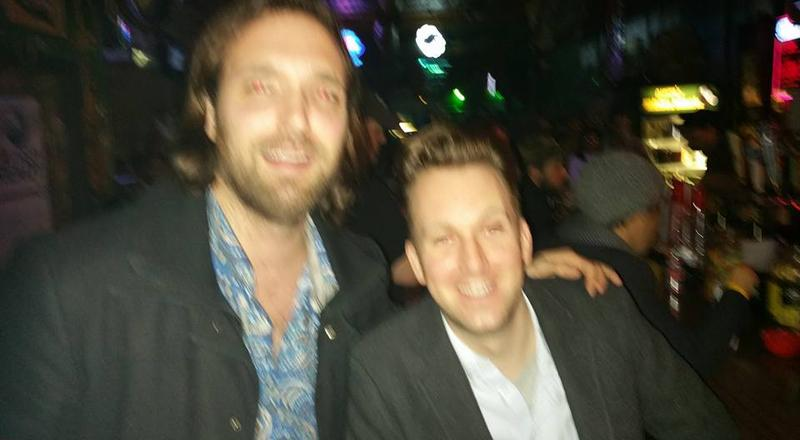 Little Rock resident Whitman Bransford with the Daily Show correspondent Jordan Klepper in Little Rock.