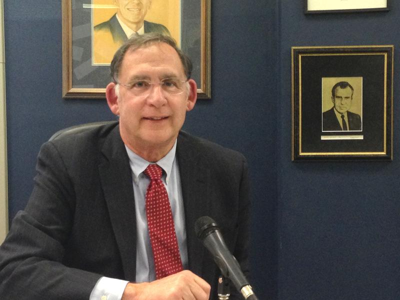 U.S. Senator John Boozman in the Republican Party of Arkansas headquarters in 2016 during a campaign interview.