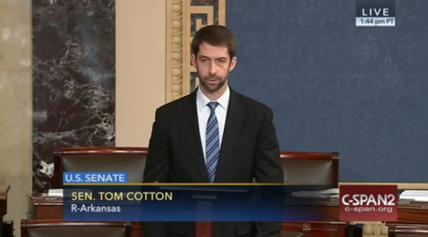 U.S. Senator Tom Cotton (R-Ark) in February.