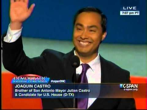 US Rep. Joaquin Castro (D-TX) at the 2012 Democratic National Convention.