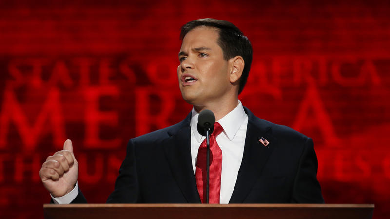 Republican presidential candidate Marco Rubio.