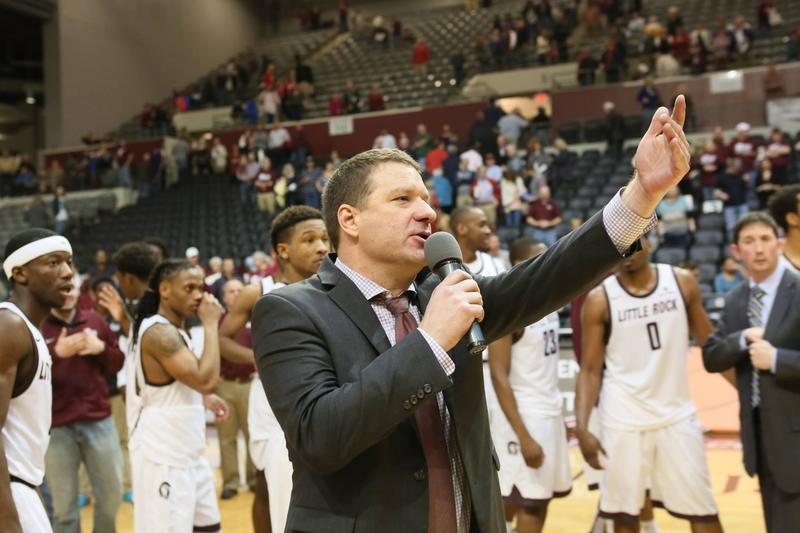 Chris Beard UALR Little Rock Trojans coach