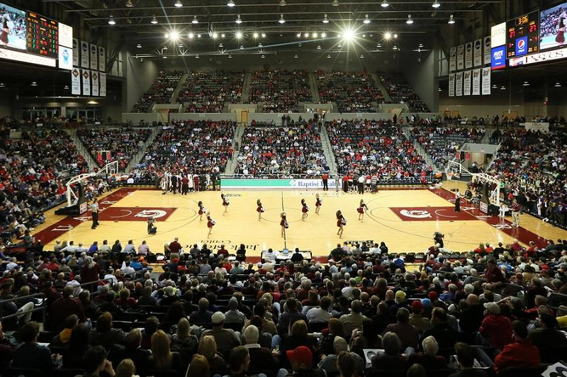Little Rock Trojans' home court the Jack Stephens Center at the University of Arkansas at Little Rock.