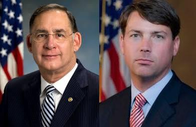 Republican U.S. Senator John Boozman and Democratic challenger Conner Eldridge (Ieft to right).