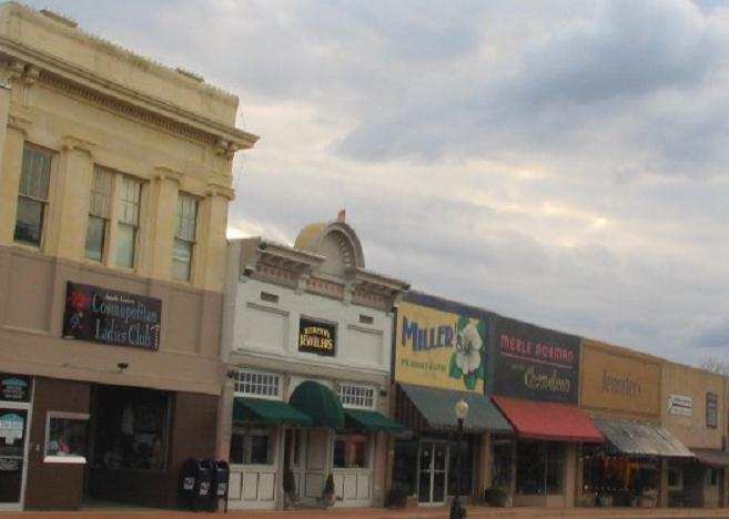 Downtown Magnolia, Arkansas.
