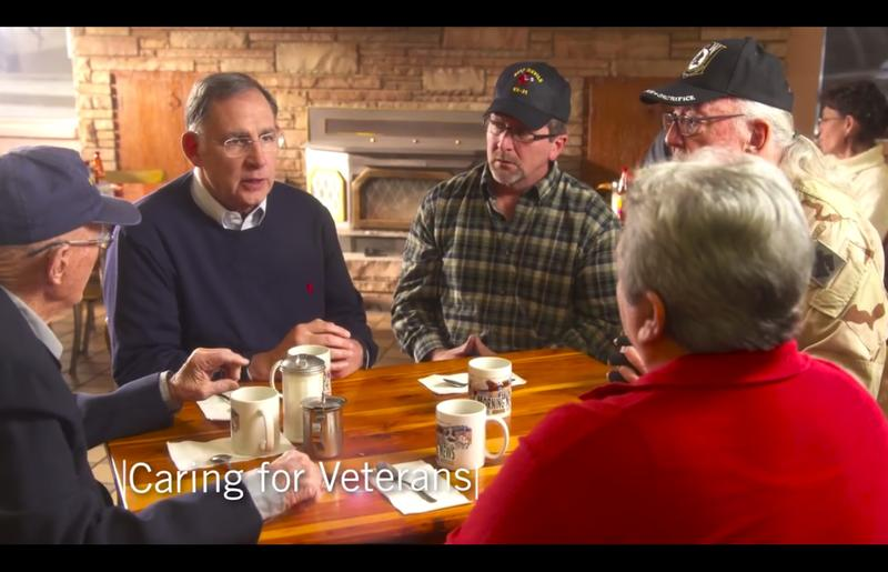 A still image from a John Boozman's first television advertisement for U.S. Senate.