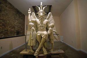 A statue of Baphomet as a goat-headed figure flanked by two children could appear alongside the 10 Commandments at the state Capitol.