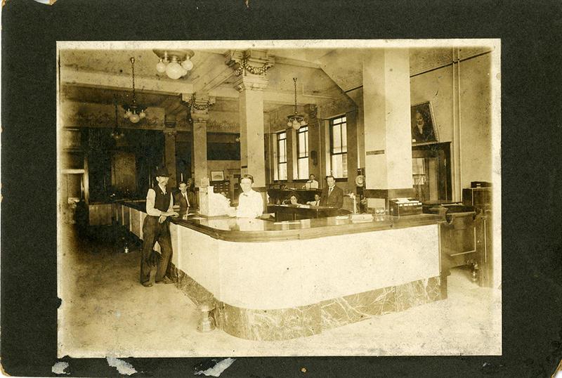 Inside the Gazette's business office. Taken in 1911