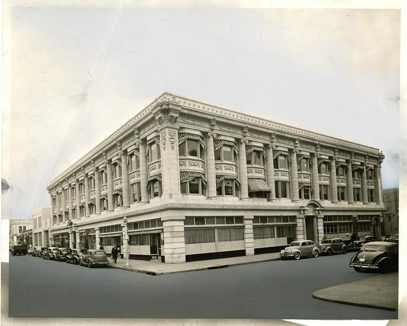 An image of the Arkansas Gazette building, taken in 1939.