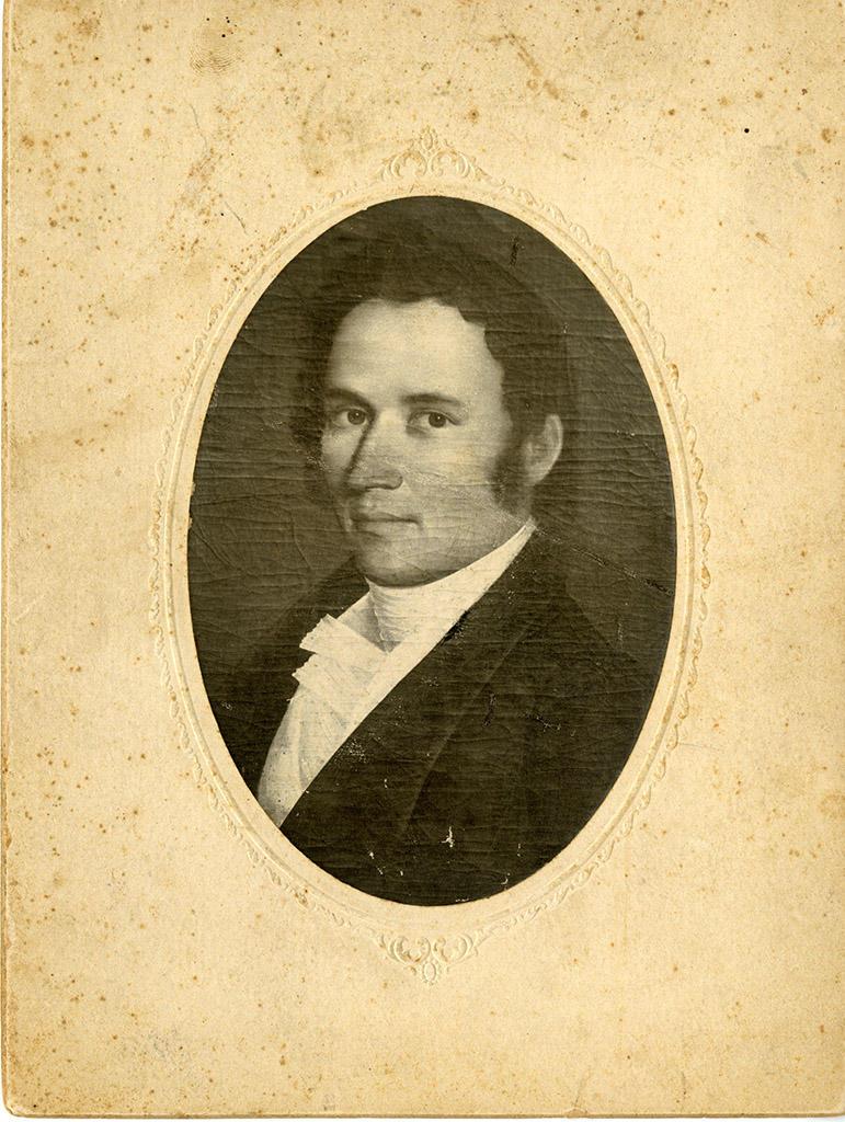 A portrait of the founder of the Arkansas Gazette, William E. Woodruff.