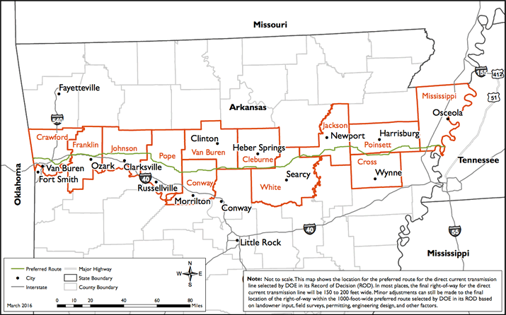 Will A Clean Energy Trunkline Bring Eminent Domain To Arkansass - Arkansas land ownership maps