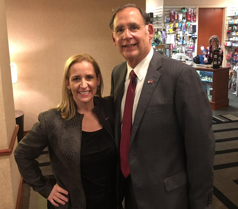 Arkansas Attorney General Leslie Rutledge and U.S. Senator John Boozman of Arkansas
