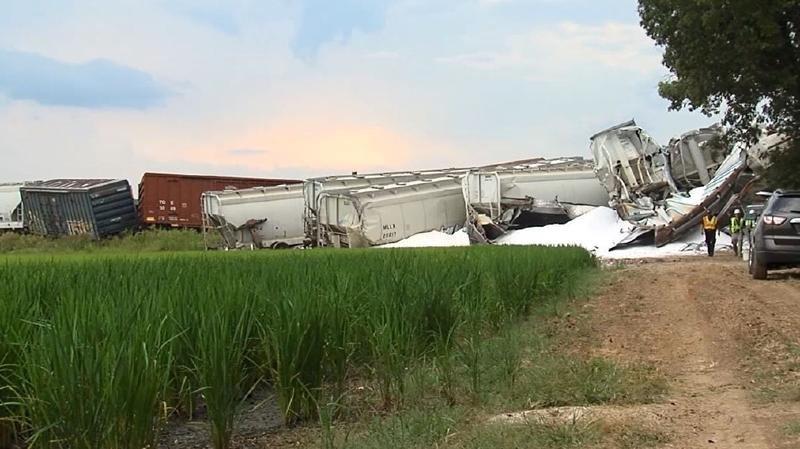 freight train collision Hoxie