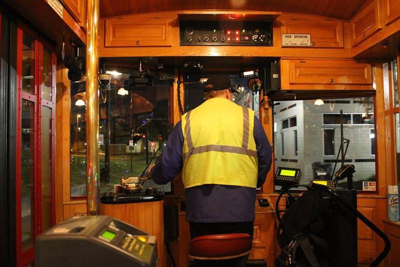 Inside the Rock Region Metro Streetcar