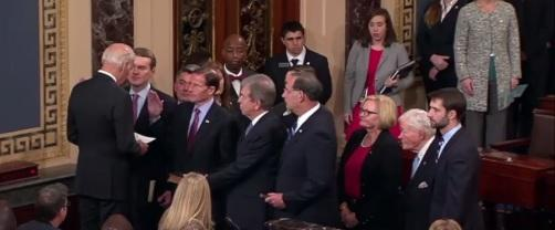 U.S. Senator John Boozman (R) gets sworn in for a second term.