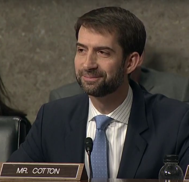 U.S. Senator Tom Cotton (R-Arkansas) questioning Director of National Intelligence James Clapper about Russian hacking.