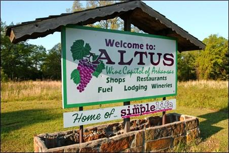 Altus Arkansas is home to several Arkansas wineries.