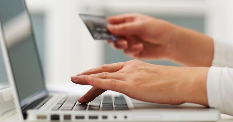 Person buying something online