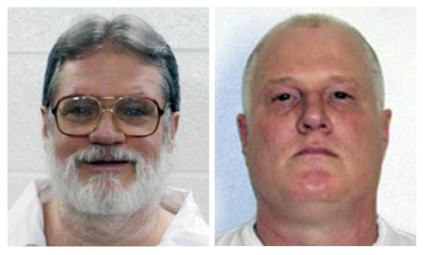Death row inmates Don William Davis, left, and Bruce Earl Ward. Both men are scheduled for execution April 17, 2017.