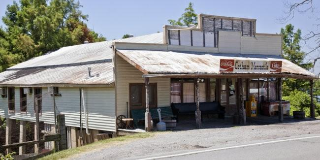 Cotham's Mercantile in Scott, Arkansas before it burned to the ground on May 30th.