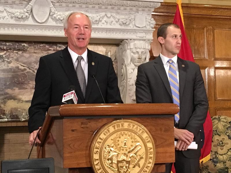 Governor Asa Hutchinson AEDC Mike Preston