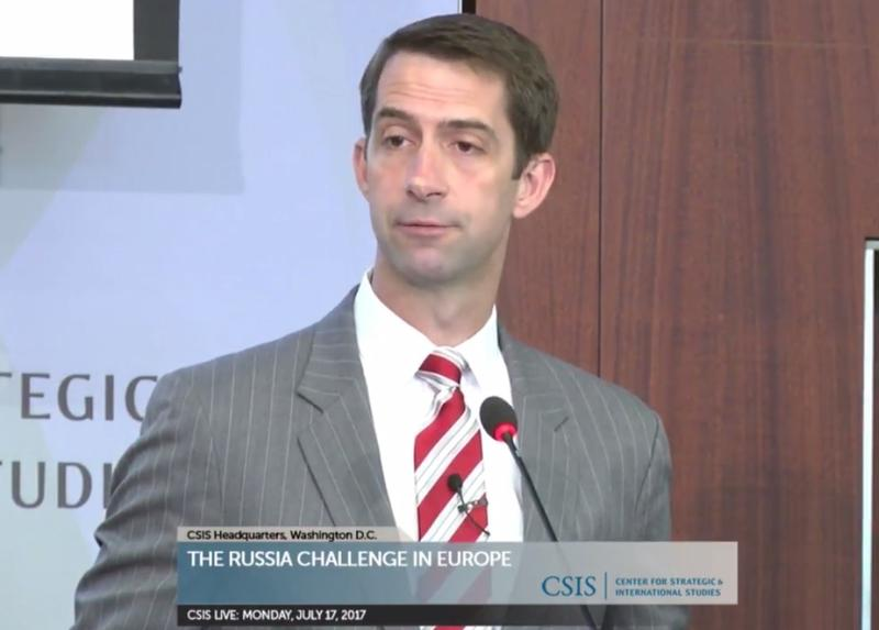 U.S. Senator Tom Cotton (R).