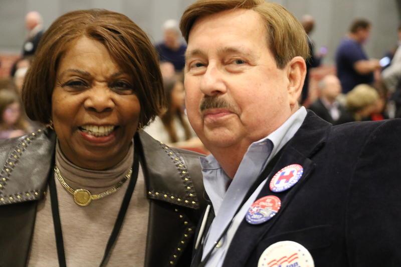 Former Little Rock Mayor Lottie Shackleford and John Bangert