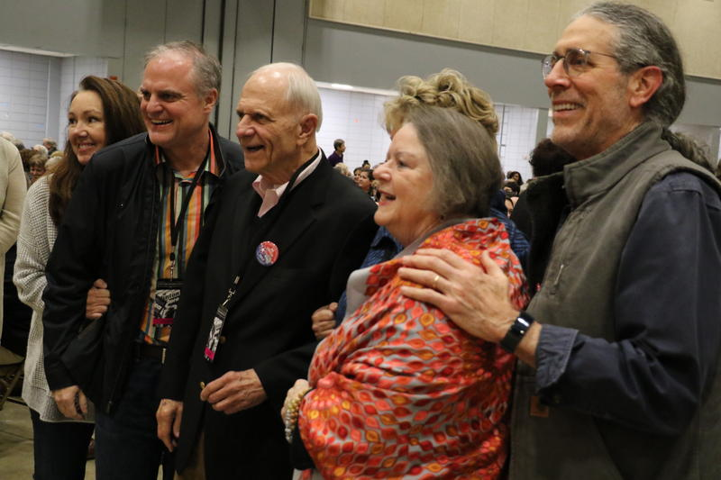 Joi Pryor, former Sens. David Pryor and Mark Pryor, Denise Garner, Barbara Pryor, and Dr. Hershey Garner