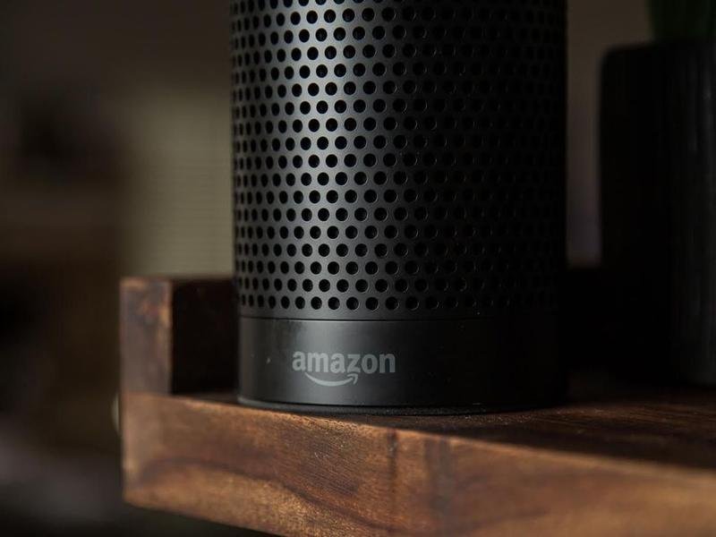 An Amazon Echo speaker
