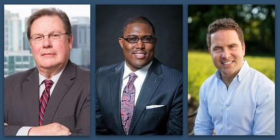 Little Rock Mayor Mark Stodola and potential candidates Frank Scott, Jr. and Warwick Sabin.