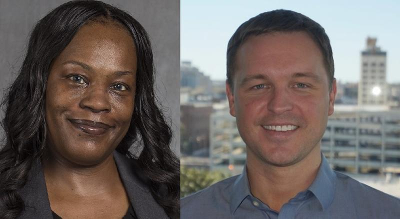 Leticia Sanders (left) and Jared Henderson (right).