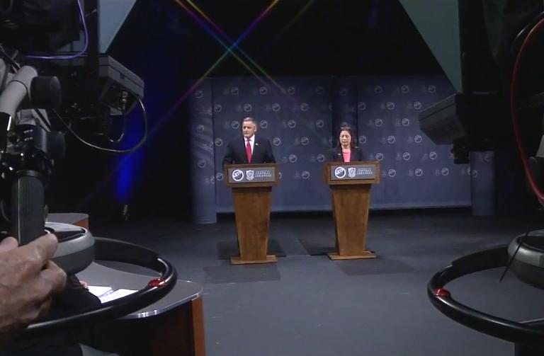 Republican incumbent U.S. Rep. Rick Crawford and Democratic candidate Hayden Shamel