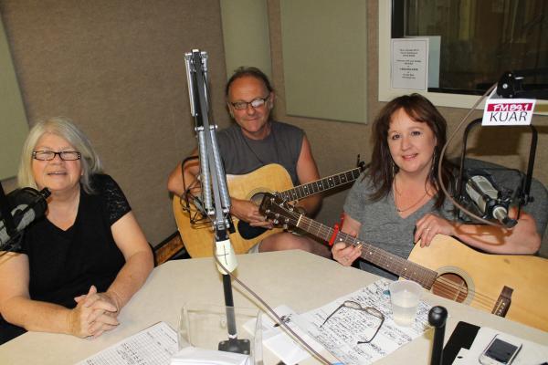 Flap Jones, Nick Devlin and Amy Garland in the KUAR studio during Not Necessarily Nashville, Saturday, June 8, 2013.