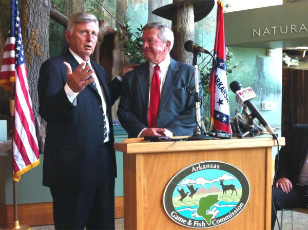 Governor Mike Beebe announces new Game and Fish Commissioner Ken Reeves.