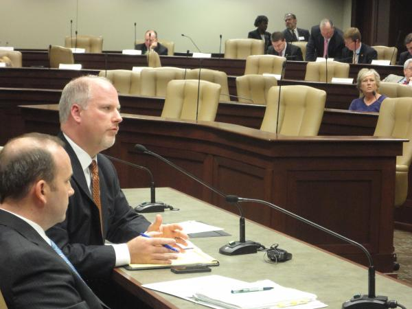Attorney General Dustin McDaniel testifies before the Arkansas Legislative Council on Friday
