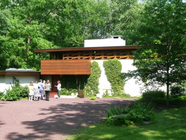 The Bachman Wilson House, designed by Frank Lloyd Wright, in Somerset County, New Jersey.