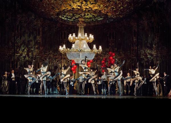 "A scene from the Act 2 ballet in Johann Strauss, Jr.'s ""Die Fledermaus."""