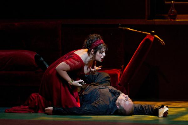 """Sondra Radvanovsky (left) in the title role of Puccini's """"Tosca."""""""