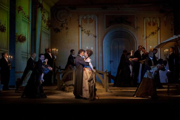 """A scene from Massenet's """"Werther"""" with Jonas Kaufmann as the title character and Sophie Koch as Charlotte."""