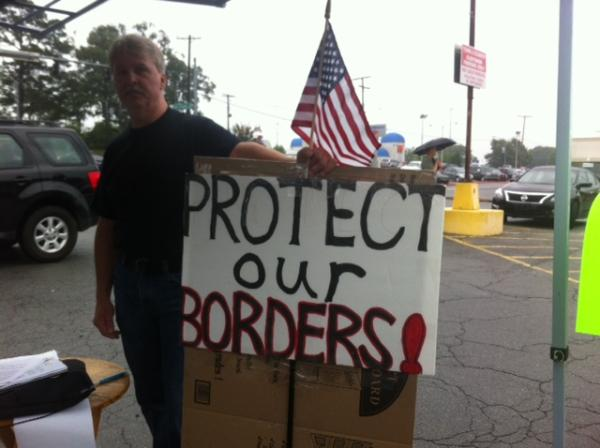 Immigration protester