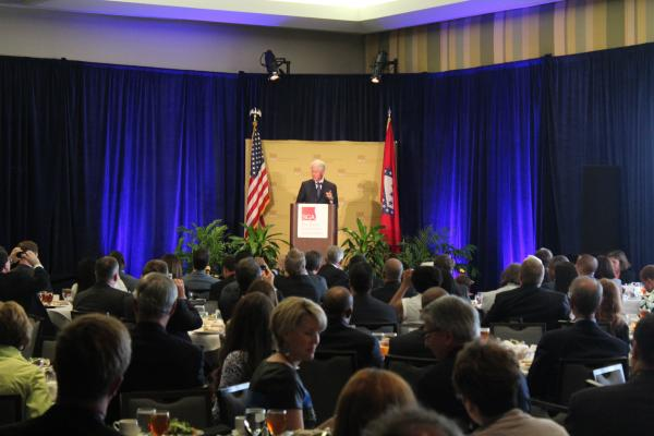 Former President Bill Clinton at the Southern Governors' Association's annual meeting in Little Rock.