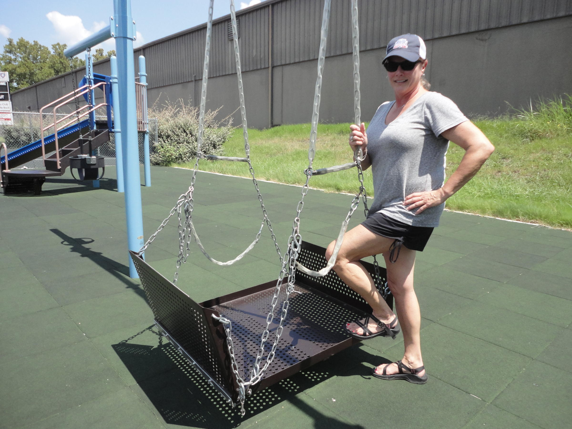 improved playgrounds and ball fields allow disabled kids to play