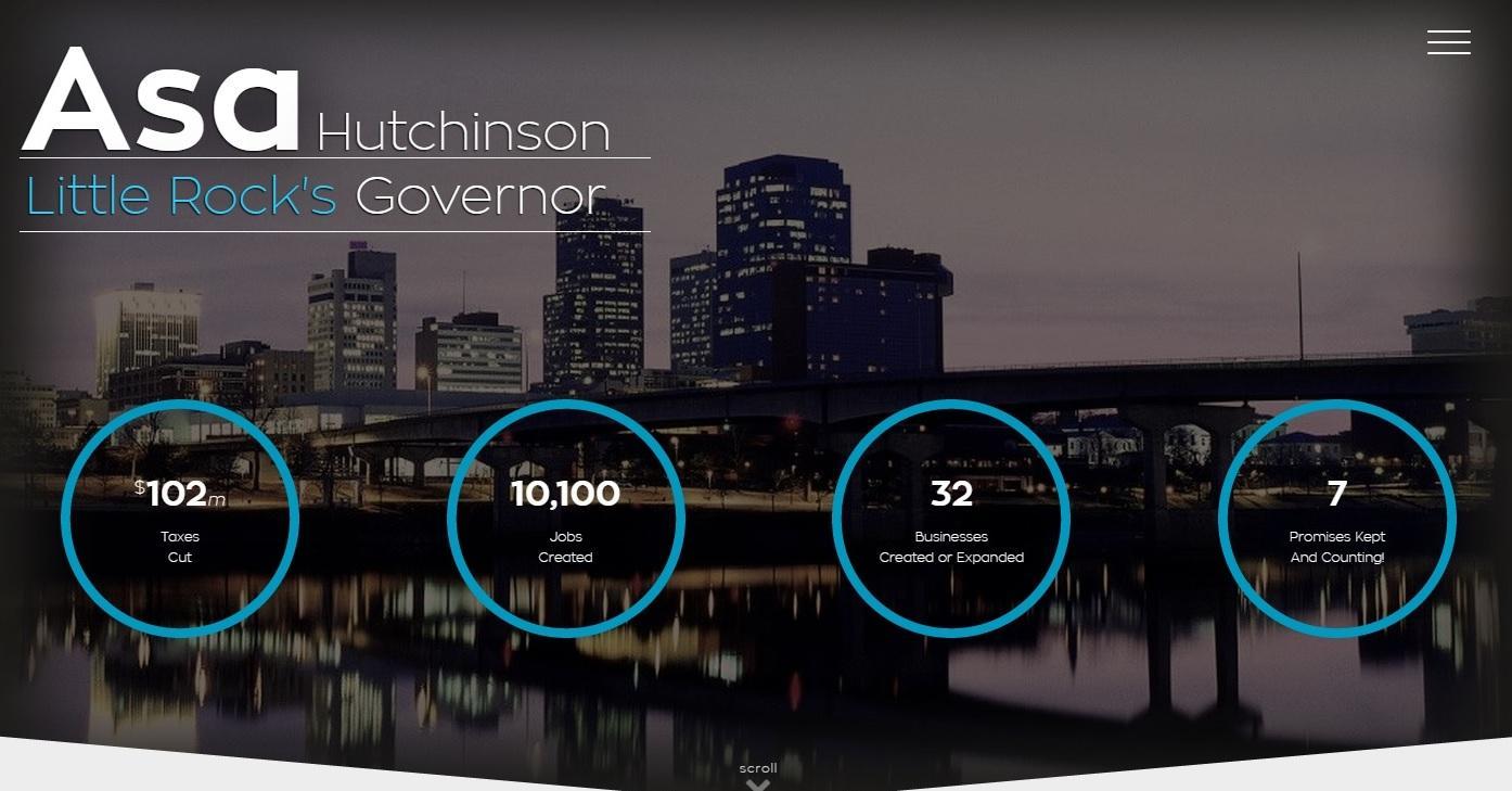 Arkansas Governor Asa Hutchinson Launches New Website Kuar