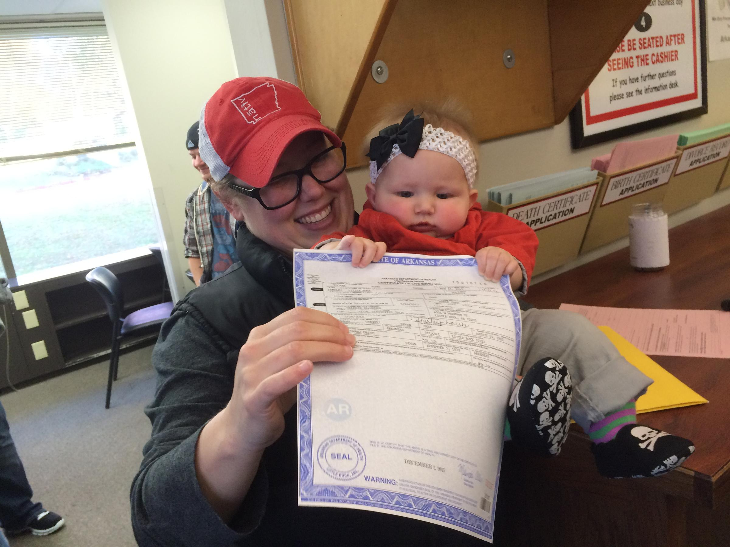 Arkansas Supreme Court Issues Stay On Part Of Birth Certificate