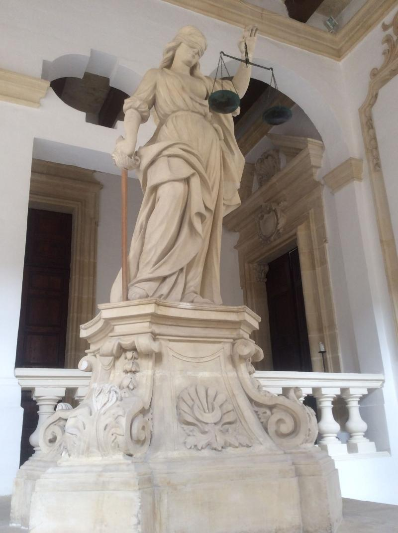 Lady Justice at Castalla nia Malta